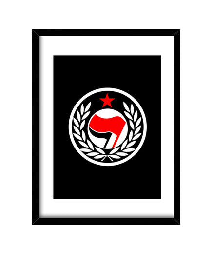 cuadros laurel antifascista, talla 30 x 40
