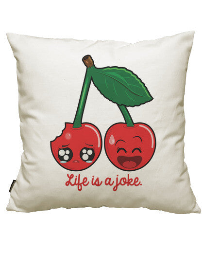 fundas cojines life is joke, talla 50 x 50
