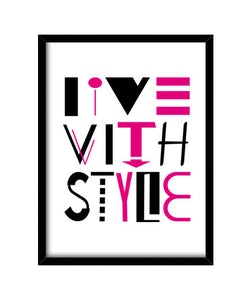 cuadros live with style, talla 30 x 40