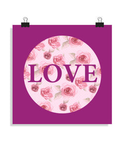 posters love roses, talla 40 x 40