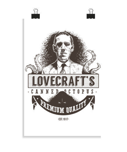 posters lovecraft's canned octopus, talla 20 x 30