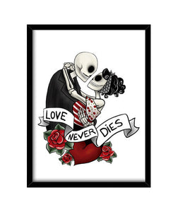cuadros loveneverdies, talla 30 x 40