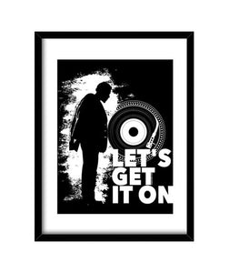 cuadros marvin gaye. let´s get it on, talla 30 x 40