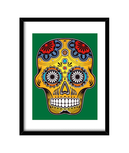 cuadros mexico color skull, talla 30 x 40