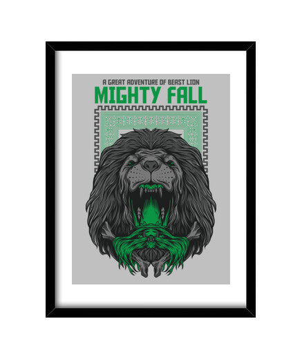 cuadros mighty fall, talla 30 x 40