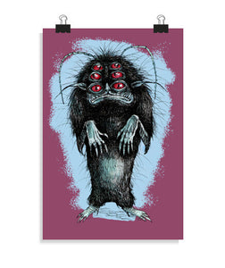 posters monster in my closet, talla 20 x 30