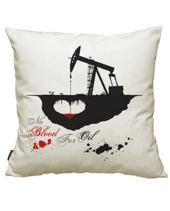 fundas cojines no blood for oil, talla 50 x 50