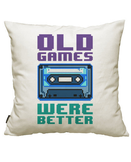 fundas cojines old games were better (cassette), talla 50 x 50