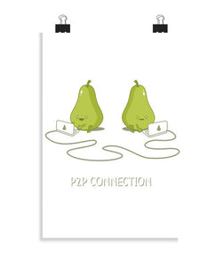 posters p2p connection, talla 20 x 30