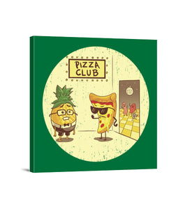 lienzos pizza club, talla 40 x 40