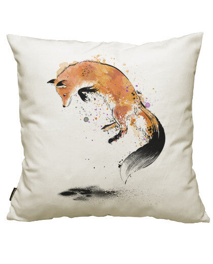 fundas cojines red fox jumping into snow, talla 50 x 50