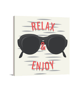 lienzos relax and enjoy, talla 40 x 40