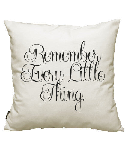 fundas cojines remember every little thing, talla 50 x 50