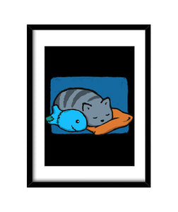cuadros sleeping with the fishes, talla 30 x 40