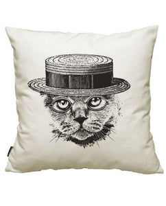 fundas cojines sofisticated serious cat, talla 50 x 50