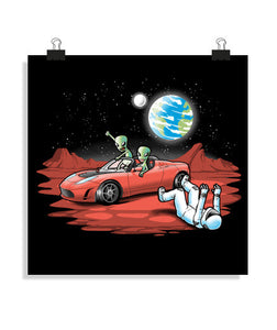 posters space car, talla 40 x 40