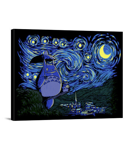 lienzos starry-neighbor, talla 40 x 30