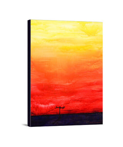 lienzos sunset, talla 30 x 40
