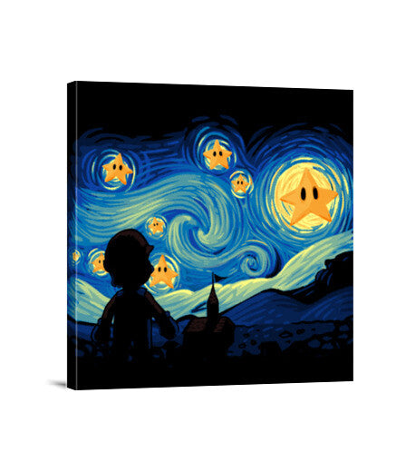 lienzos super starry night, talla 40 x 40