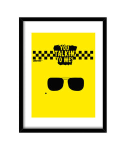 cuadros taxi driver - you talking to me?, talla 30 x 40