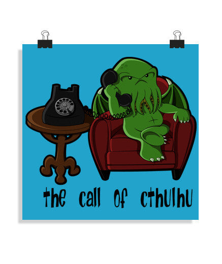 posters the call of cthulhu (for white), talla 40 x 40