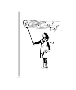 lienzos the music catcher, talla 30 x 40