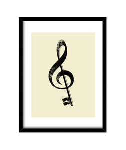 cuadros the music is the key, talla 30 x 40