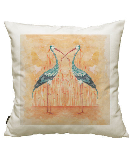fundas cojines two exotic storks, talla 50 x 50