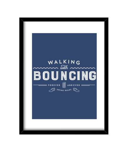 cuadros walking with bouncing forever - white, talla 30 x 40