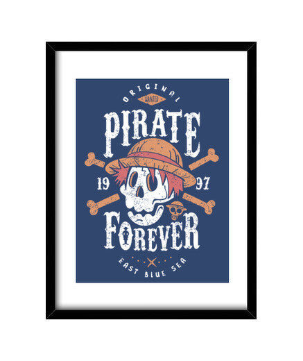 cuadros wanted pirate forever, talla 30 x 40