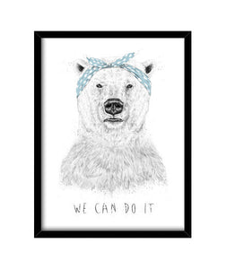 cuadros we can do it, talla 30 x 40
