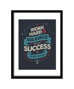cuadros work hard, talla 30 x 40