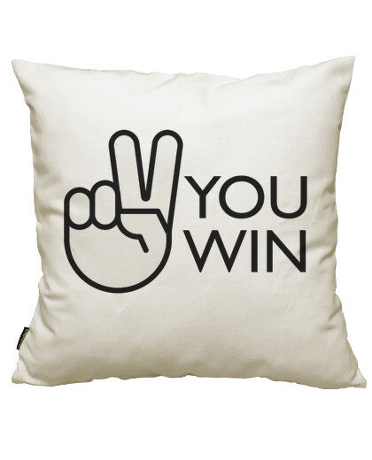 fundas cojines you win, talla 50 x 50