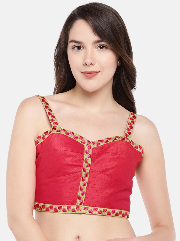 Just B Sleeveless Strapped Padded Red readymade  Blouse