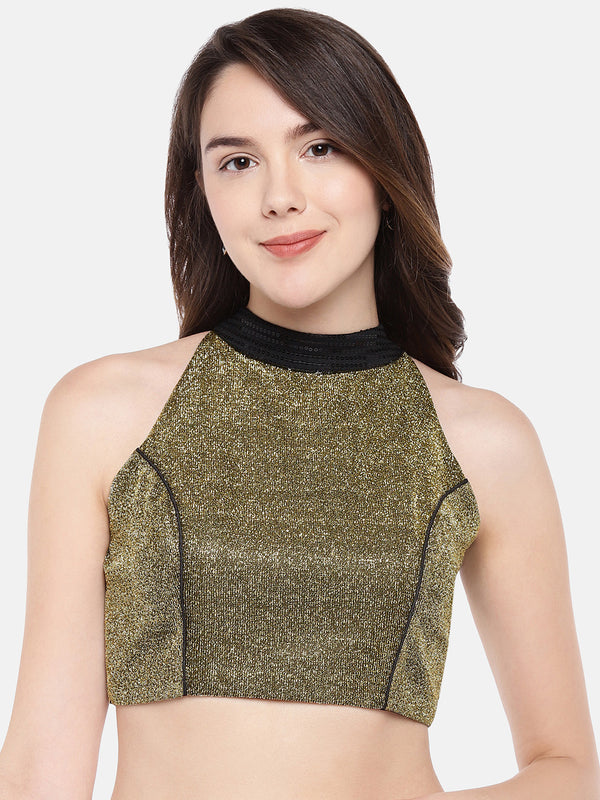 Just B bright gold Lurex Shimmer Blouse with sequins