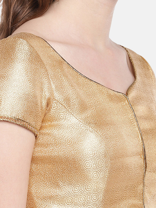 Just B Gold Padded Banarasi Jamawar Blouse