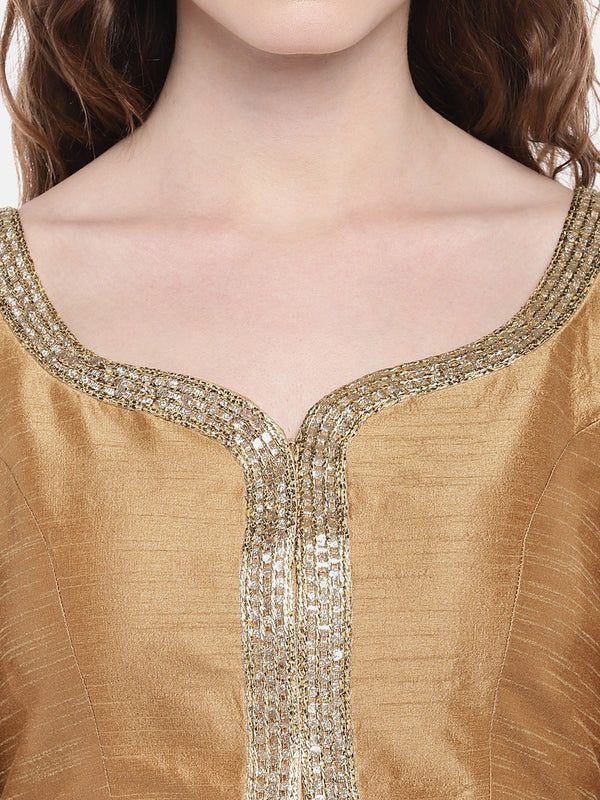 Just B Gold Padded Dupion Silk Blouse