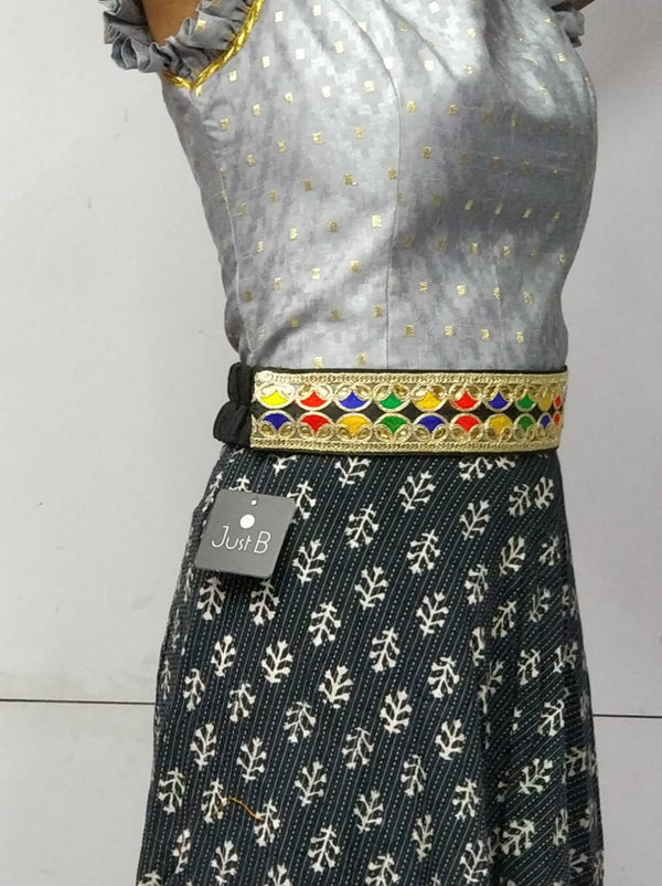 Just B Multicolored Kamarband With Embroidery And Crystal Work