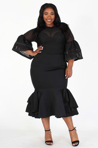 plus size black dress for funeral