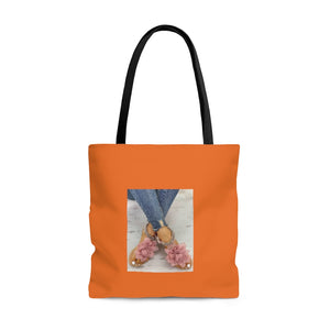 Orange Sandals Tote Bag