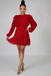 Stepping Out Red Shift Dress