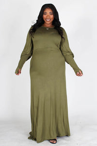 Abby Olive Casual Maxi Dress