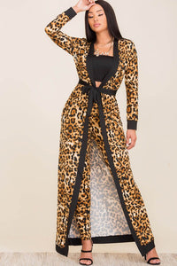 In my confidence Animal Print Duster Set