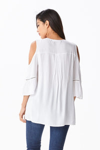 Elise Cold Shoulder Free Style Casual Top