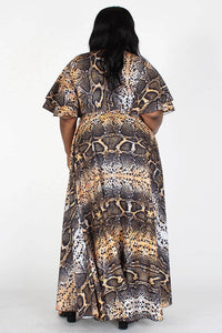 Level Up Animal Print Maxi Dress