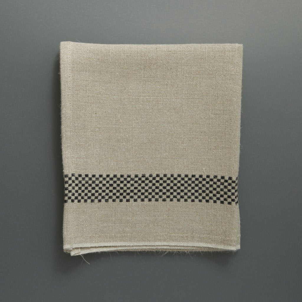 French Linen Tea Towel Chequer From Labour And Wait