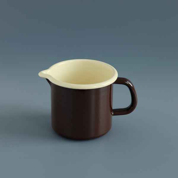 Enamel Jug Brown