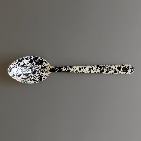 Marbled Enamel Serving Spoon Navy