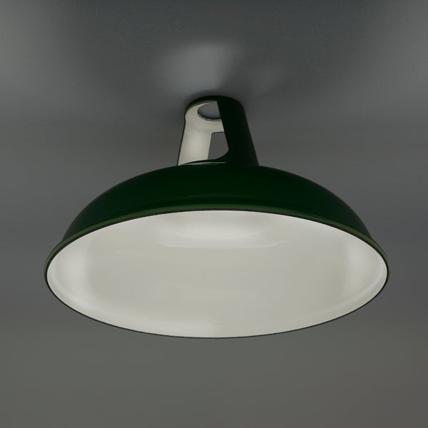 Enamel Lampshade Green