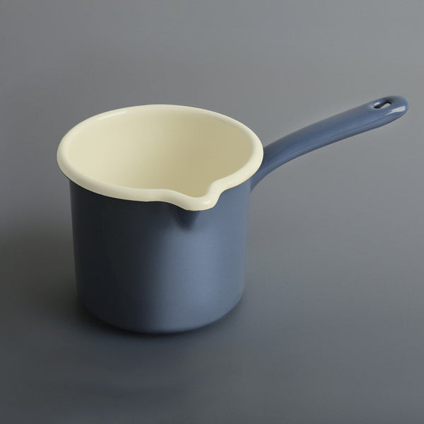 Enamel Milk Pot Airforce